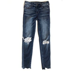 American Eagle distressed jegging jeans • 0 long